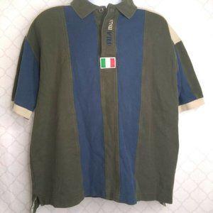 FILA Italia Mens XL Polo Shirt Italy Italian Flag